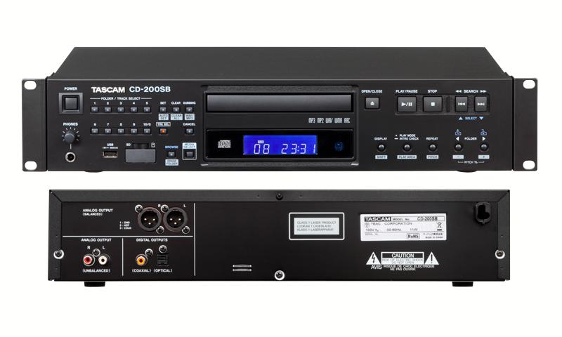 TASCAM CD-200SB SD/SDHC/USB CD 全国通信販売 山陽電子商会 第弐録音機材倉庫