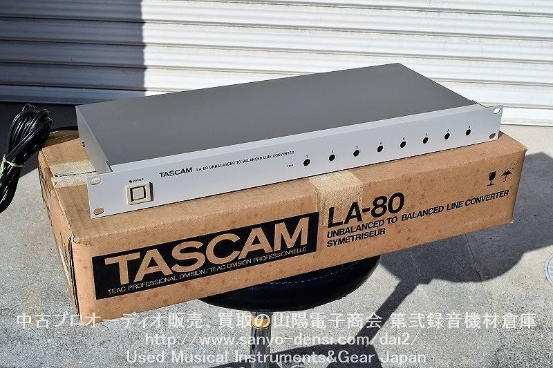 【中古レコーディング機器】 TASCAM LA-80 全国通信販売