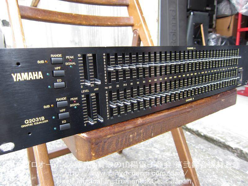 中古音響機器 YAMAHA Q2031B 31バンドグラフィックイコライザー 通信販売